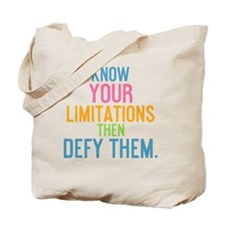 ipad Know your limitations then defy them Tote Bag