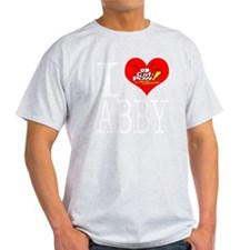 I Heart Abby and Caf-Pow of NCIS Fam T-Shirt