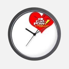 I Heart Abby and Caf-Pow of NCIS Fame Wall Clock