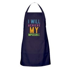 ipad I will achieve my impossible Apron (dark)