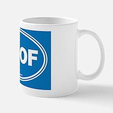 WOOF! Blue Mug