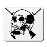 Skull and guns Mouse Pads