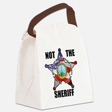 NOT THE SHERIFF Canvas Lunch Bag