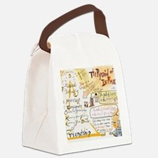 The Pyramid of Intimacy Canvas Lunch Bag