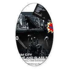 Gotham City Glass Repair Decal