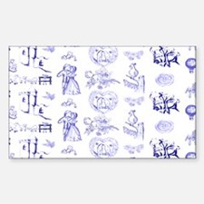 Blue Toile Pattern on 5x7 feet Decal