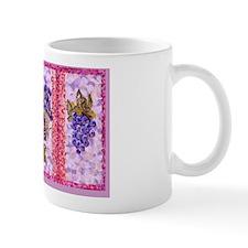 Grapes And Wine Pointillism with Irises Mug