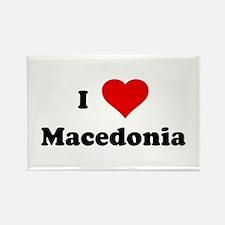 I Love Macedonia Rectangle Magnet