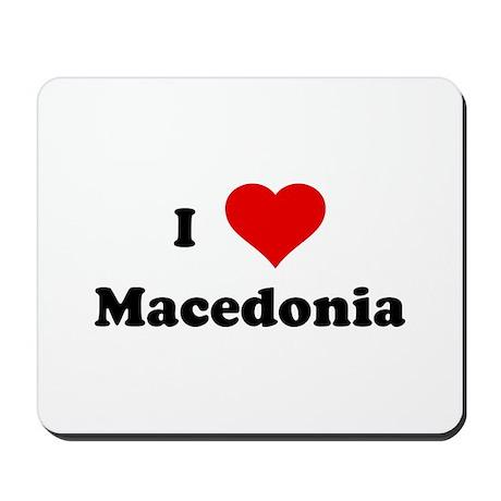 I Love Macedonia Mousepad