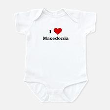 I Love Macedonia Infant Bodysuit