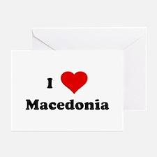 I Love Macedonia Greeting Cards (Pk of 10)