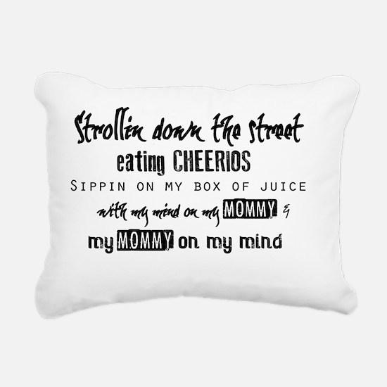 Mind On My Mommy Rectangular Canvas Pillow
