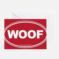 WOOF! Red Greeting Card