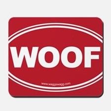 WOOF! Red Mousepad