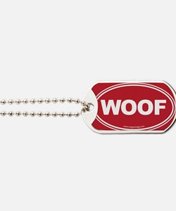 WOOF! Red Dog Tags