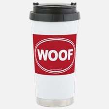 WOOF! Red Stainless Steel Travel Mug