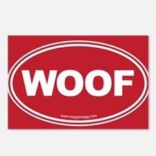 WOOF! Red Postcards (Package of 8)