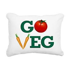 Go Veg Stacked Rectangular Canvas Pillow