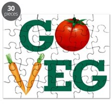 Go Veg Stacked Puzzle