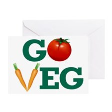 Go Veg Stacked Greeting Card
