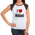 I Love Midland (Front) Women's Cap Sleeve T-Shirt