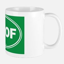 WOOF! Green Mug