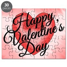 Valentines Day Card Love Artistic Pink Hear Puzzle