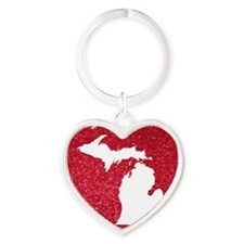 Michigan Heart Keychain
