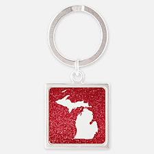 Michigan Square Keychain