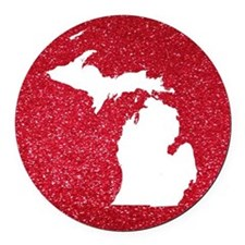 Michigan Round Car Magnet