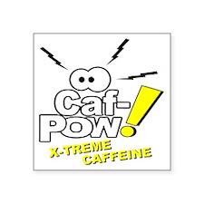 """Caf-Pow of NCIS Fame Square Sticker 3"""" x 3"""""""