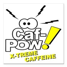 "Caf-Pow of NCIS Fame Square Car Magnet 3"" x 3"""