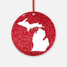 Michigan Round Ornament
