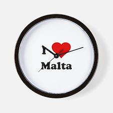 I Love Malta Wall Clock