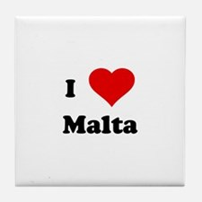 I Love Malta Tile Coaster