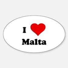I Love Malta Oval Decal
