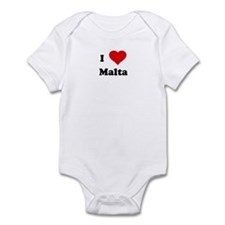 I Love Malta Infant Bodysuit