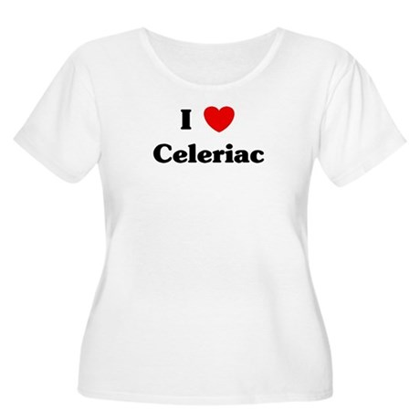 I love Celeriac Women's Plus Size Scoop Neck T-Shi
