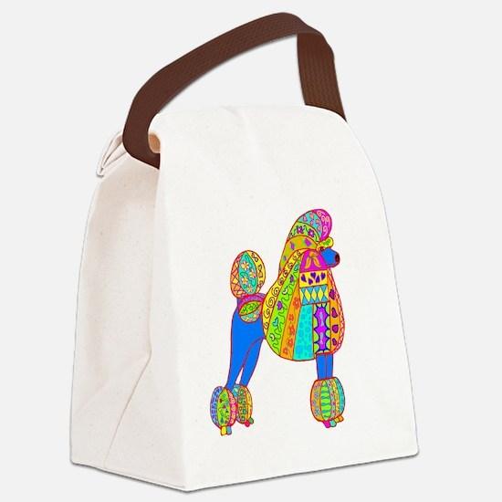 Pretty poodle Canvas Lunch Bag