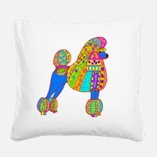 Pretty poodle Square Canvas Pillow