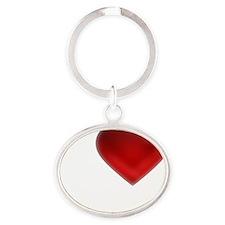 I Heart Anguilla Oval Keychain