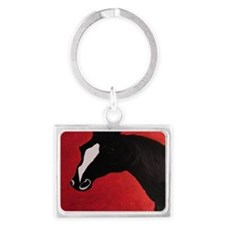 Horse Landscape Keychain