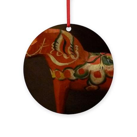 Dala Horse Foundation Round Ornament