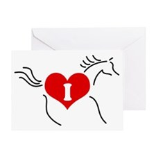 I Love Horses Greeting Card
