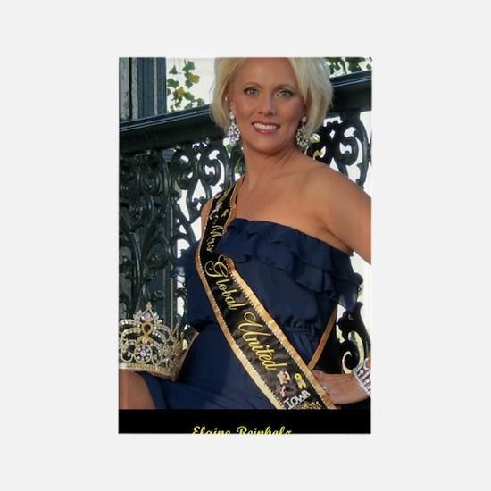 Mrs Global United 2012-13 Rectangle Magnet