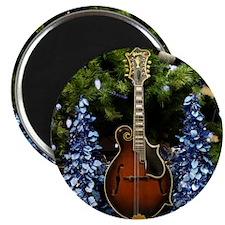 Mandolin_In_Blue_Christmas_Trees Magnet