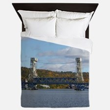 Portage Lake Bridge Queen Duvet