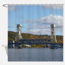 Portage Lake Bridge Shower Curtain