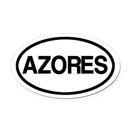 Azores Oval Car Magnet