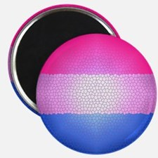 Bisexual Pride Flag - Stained Glass Design Magnet